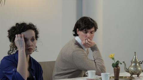 Sarah Born und Johannes Schüchner beim Casting Photo: © Andreas Weiss